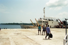 Ship Kamorta docked @ Havelock Island